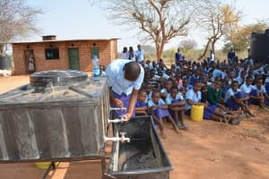 The Water Project: Mang'uu Primary School -  Handwashing Demonstration
