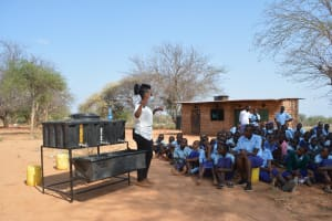The Water Project: Mang'uu Primary School -  Handwashing Session