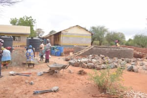 The Water Project: Mang'uu Primary School -  Large Rocks For Tank Walls