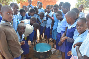 The Water Project: Mang'uu Primary School -  Soap Mixing