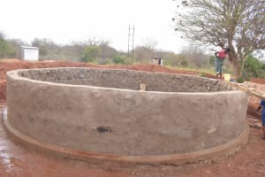 The Water Project: Mang'uu Primary School -  Tank Construction In Progress