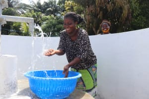 The Water Project: Lungi, Suctarr, #47 Kamara Street -  Splashing Clean Well Water