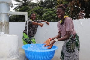 The Water Project: Lungi, Suctarr, #47 Kamara Street -  Women Splash At The Well