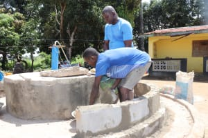 The Water Project: Lungi, Suctarr, #47 Kamara Street -  Pad Construction