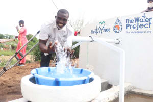 The Water Project: Lungi, Rotifunk, 22 Kasongha Road -  Celebrating At The Well