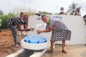 The Water Project: Lungi, Rotifunk, 22 Kasongha Road -  Fetching Water At The Well
