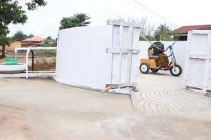 The Water Project: Lungi, Rotifunk, 22 Kasongha Road -  Pumping The Well