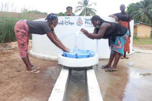 The Water Project: Lungi, Rotifunk, 22 Kasongha Road -  Splashing The Water From The Well