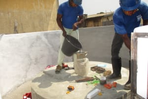The Water Project: Lungi, Tintafor, Police Barracks E-Line Block 7 -  Chlorination
