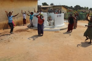 The Water Project: Lungi, Tintafor, Police Barracks E-Line Block 7 -  Community Celebration At The Well