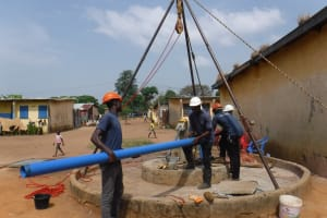 The Water Project: Lungi, Tintafor, Police Barracks E-Line Block 7 -  Drilling