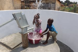 The Water Project: Lungi, Tintafor, Police Barracks E-Line Block 7 -  Kids Celebrating