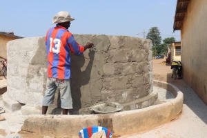 The Water Project: Lungi, Tintafor, Police Barracks E-Line Block 7 -  Pad Construction