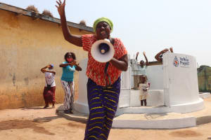 The Water Project: Lungi, Tintafor, Police Barracks E-Line Block 7 -  Speech At The Well Dedication