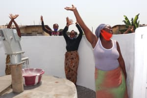 The Water Project: Lungi, Tintafor, Police Barracks E-Line Block 7 -  Well Celebration