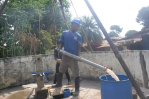 The Water Project: Lungi, Tintafor, Sierra Leone Church Primary School -  Bailing