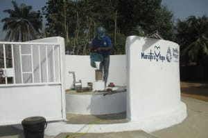 The Water Project: Lungi, Tintafor, Sierra Leone Church Primary School -  Chlorination