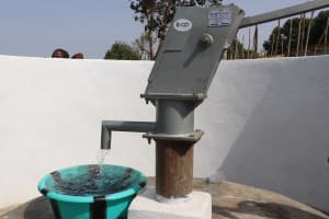 The Water Project: Lungi, Tintafor, Sierra Leone Church Primary School -  Clean Water Flowing