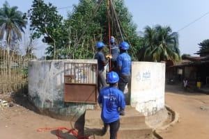The Water Project: Lungi, Tintafor, Sierra Leone Church Primary School -  Drilling