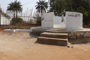 The Water Project: Lungi, Tintafor, Sierra Leone Church Primary School -  Finished Project