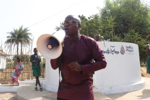 The Water Project: Lungi, Tintafor, Sierra Leone Church Primary School -  Mr Moses Kebie Representative From Ministry Of Water Resources Making Statement