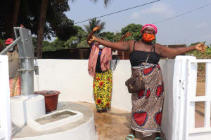 The Water Project: Lungi, Masoila, Off Swarray Deen Street (BAH) -  Celebration At The Dedication Ceremony