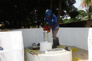 The Water Project: Lungi, Masoila, Off Swarray Deen Street (BAH) -  Chlorination