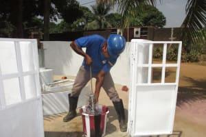 The Water Project: Lungi, Masoila, Off Swarray Deen Street (BAH) -  Pump Installation
