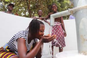 The Water Project: Lokomasama, Satamodia Village -  Drinking From The Well