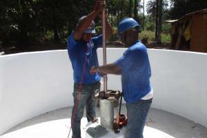 The Water Project: Lokomasama, Satamodia Village -  Pump Installation