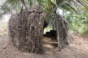The Water Project: Kamasondo, Robay Village, Next to Mosque -  Latrine