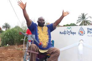 The Water Project: Lungi, Rotifunk, 22 Kasongha Road -  Chairman Celebrating