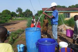 The Water Project: Lungi, Rotifunk, 22 Kasongha Road -  Yield Test
