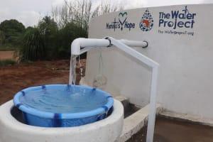 The Water Project: Lungi, Rotifunk, 22 Kasongha Road -  Clean Water Flowing