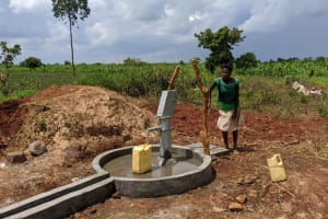 The Water Project: Alero B Community -  Esther Fetching Water