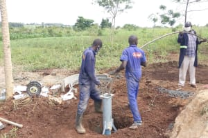The Water Project: Alero B Community -  Well Pump Work