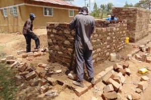 The Water Project: Kitambazi Primary School -  Latrine Brick Work