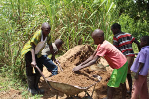 The Water Project: Mayuge Community, Ucheka Spring -  Kids Helped Deliver Materials Too