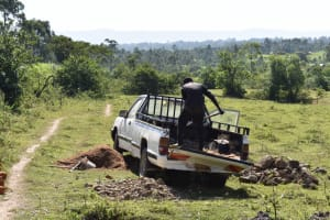 The Water Project: Makale Community, Kwalukhayiro Spring -  Offloading Materials Near The Spring