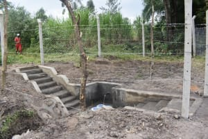 The Water Project: Makale Community, Kwalukhayiro Spring -  The Completed Spring