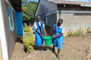 The Water Project: Gimarakwa Primary School -  Pupils Carry Water To The Work Site