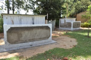 The Water Project: Shikomoli Primary School -  Completed Vip Latrines