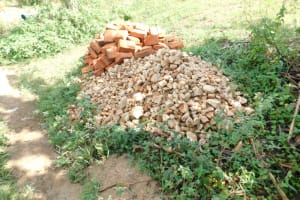 The Water Project: Mwitwa Community, Matiang'i Spring -  Construction Materials Reay For Use