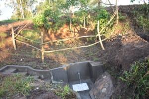 The Water Project: Khaunga A Community, Murutu Spring -  Protected Murutu Spring