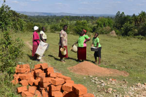 The Water Project: Makale Community, Kwalukhayiro Spring -  A Short Pause Before Another Trip Of Materials Delivery