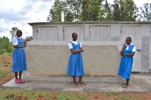 The Water Project: Gimarakwa Primary School -  Students Posing At The Completed Latrines