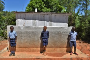 The Water Project: Saosi Primary School -  Boys Pose At Their New Toilets