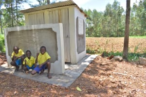 The Water Project: Isikhi Primary School -  Boys Posing At Their New Latrines
