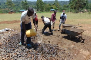The Water Project: Galona Primary School -  Concrete Mixing