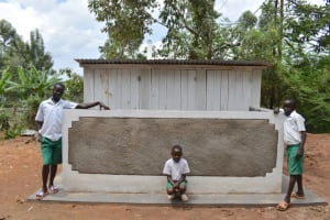 The Water Project: Galona Primary School -  Students Posing At The Latrines